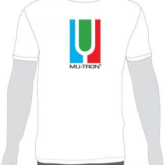 Mu-Tron Logo White T